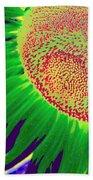 New Photographic Art Print For Sale Pop Art Sunflower 2 Beach Towel