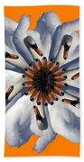 New Photographic Art Print For Sale Pop Art Swan Flower On Orange Beach Towel