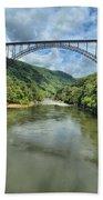 New River Gorge Bridge Beach Towel