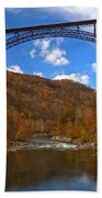 New River Gorge Fiery Fall Colors Beach Towel