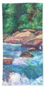 New River Fast Water Beach Towel