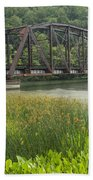 New River Scene 14 B Beach Towel