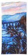 New River Trestle In Fall Beach Towel