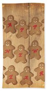 New Year Gingerbread Beach Towel