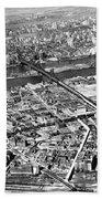 New York 1937 Aerial View  Beach Towel