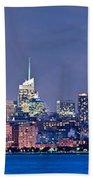 New York Blue Hour Panorama Beach Towel