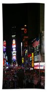 New York - Broadway And Times Square Beach Towel