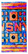 New York City Autumn Street Detail Pop Painting Beach Towel