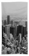 New York City Black And White Beach Towel