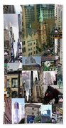 New York City Collage Beach Towel