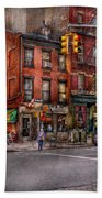 New York - City - Corner Of One Way And This Way Beach Towel by Mike Savad