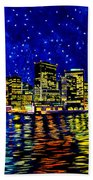 New York City Lower Manhattan Beach Towel