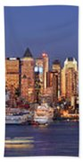 New York City Midtown Manhattan At Dusk Beach Towel