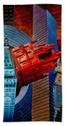 New York City Park Avenue Sculptures Reimagined Beach Towel