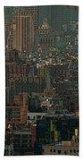 New York City Posterized Beach Towel