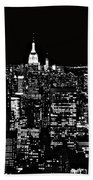 New York City Skyline At Night Beach Towel