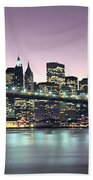 New York City Skyline Beach Towel by Jon Neidert