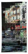 New York City Streets - Ritz Diner Beach Towel