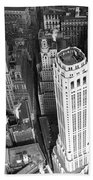 New York Financial District  Beach Towel