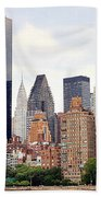 New York From Roosevelt Island Beach Towel