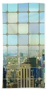 New York Golden Panorama Beach Towel