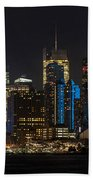 New York In Blue Beach Towel