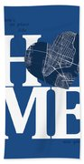 New York Map Home Heart - New York City New Yorkroad Map In A He Beach Towel