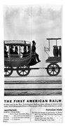 New York Railroad, 1832 Beach Towel