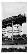 New York Railroad Bridge Beach Towel