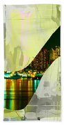 New York Skyline In A Shoe Beach Towel