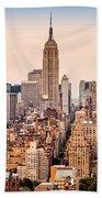 New York Skyline Panorama Beach Towel