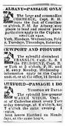 New York Sun, 1833 Beach Sheet
