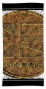 Newfoundland Flag - Brass Etching Beach Towel