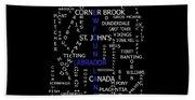 Newfoundland Labrador Canada Crosswords Beach Towel