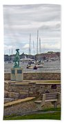 Newport Rhode Island Harbor Ivi Beach Towel