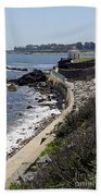 Newport's Cliff Walk View Beach Towel
