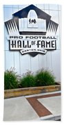 Nfl Hall Of Fame Beach Towel by Frozen in Time Fine Art Photography