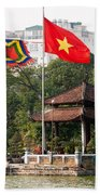 Ngoc Son Temple  01 Beach Towel