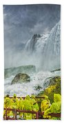 American Falls Niagara Cave Of The Winds Beach Towel