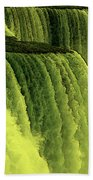 Niagara Falls Closeup Hot Wax Effect Beach Towel