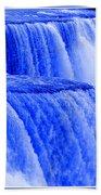 Niagara Falls Closeup In Blue Beach Towel