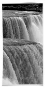Niagara Falls In Black And White Beach Towel