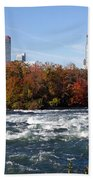 Niagara Falls Skyline From New York Beach Towel
