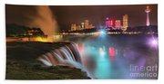 Niagara Starbust Skyline Panorama Beach Towel
