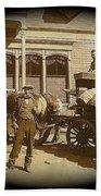 Niagra Carting Wagon Extras The Great White Hope Set Globe Arizona 1969-2014 Beach Towel