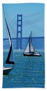 Nice Day On The Bay Beach Towel