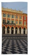 Nice France - The Cheerful Colors Of Place Massena Beach Towel