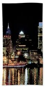 Night At Penn's Landing - Philadelphia Beach Towel