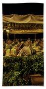 Night At The Cafe - Taormina - Italy Beach Towel