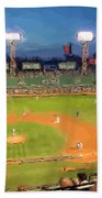 Night Fenway Pop Beach Towel